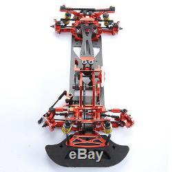110 G4 Alliage Échelle Et Carbon Rc 1/10 4wd Drift Racing Cadre Kit Voiture Rouge