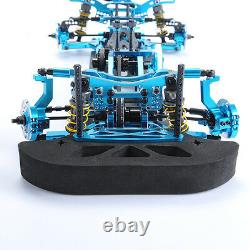 110 G4 Alloy Metal & Carbon Frame Body Chassis Kit Blue For Drift Racing Car 4wd