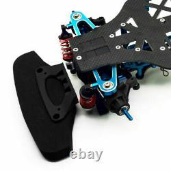 110 Rc 4wd Alliage Metal & Carbon Racing Kit De Cadre De Voiture Pour Tamiya Tt01 Tt01e