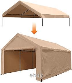 12 X 20 Pieds Portable Heavy Duty Canopy Garage Tent Carport Carport Car (frame Not)