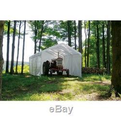 12 X 20 Po Enclosure Kit Garage Canopy Voiture Port Auvent Cadre Canopy Non Inclus