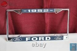 1952 Ford Voiture Pick Up Camion Avant Porte-plaque D'immatriculation Arrière Chrome Frame Nouveau