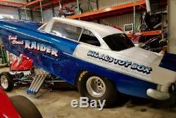 1955 Chevy Belair Funny Car 125 6.00 Cert Châssis Roulant Comme Neuf