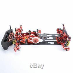 1/10 4 Roues Motrices G4 Rc Car Drift Racing Red Frame Kit En Alliage Et En Fibre De Carbone Châssis 078055r