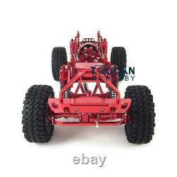 1/10 Axial Scx10 D90 Rc Rock Crawler Car Model Red Metal Aluminium Alloy Frame