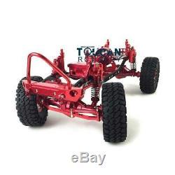 1/10 Axial Scx10 D90 Rc Rock Crawler Modèle De Voiture Rouge Métal Aluminium Cadre En Alliage