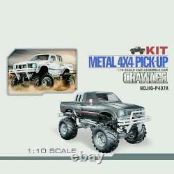 1/10 Scale Rc Pickup 44 Rally Car Series Racing Crawler Kit Chassis Axes Bk
