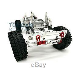 1/10 Scx10 Rc Rock Crawler Voiture Cnc En Alliage D'aluminium 4 Roues Motrices Châssis Cadre Kit Argent