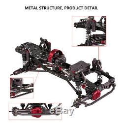 1/10 Scx10 Rc Rock Crawler Voiture Cnc En Alliage D'aluminium 4 Roues Motrices Châssis Cadre Kit W6e4