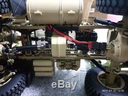 1/12 88 Rc Us Camion Militaire Modèle Châssis En Métal Moteur De Voiture Esc Servo P802 Radio
