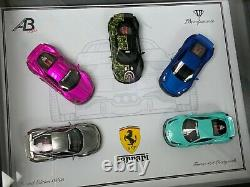 1/64 Ferrari 458 Liberty Walk 5 Voiture Set Frame Limité À 5 Pièces