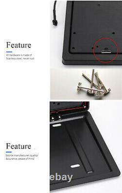 1pc Mise À Jour Retractable Car USA Plaque De Licence Frame Flip Swap Pad Blinds Remote