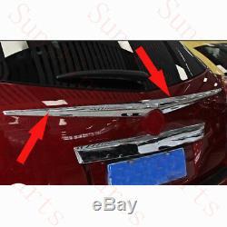 1x Cadillac Srx 2010-16 Voiture Porte Arrière Abs Chrome Aile Décorative Trim Frame