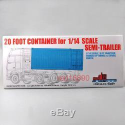 20ft 1/14 Cadre Conteneur Pour Remorque Scania Tamiya Actros Tracteur Rc Car Truck