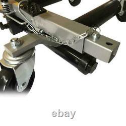 2pcs 1500lb Cadre En Acier Rigide Roue De Voiture Dolly Hydraulic Jack Lift Moving Vehicle