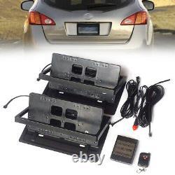 2pcs Electric Automatic Car Truck Plaque D'immatriculation Flipper Hidden Flip Fin Frame