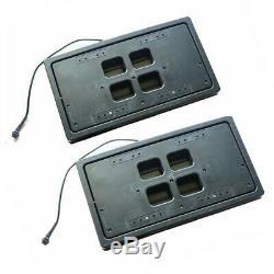 2pcs Électrique Caché Plaque D'immatriculation De Voiture Cadre Flip Turn Over USA Type Avec Télécommande