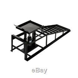 2x Rampes Véhicule Hydraulique 10,000lb. Capacité De Réparation De Voiture Portable Black Frame Us