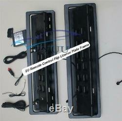 2x Ue Télécommande Plaque D'immatriculation Plaque D'immatriculation Retourner Cadre Voiture Turn Stores Shift