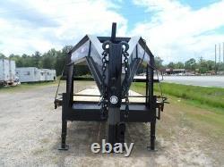 34 Remorque Utilitaire D'équipement De Transport De Voiture 2/3 Pont En Bois Gooseneck I Faisceau Cadre Nouveau