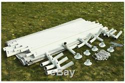 3x6 Carport Blanc Abri De Voiture Garage Portable Couverture Cadre En Acier Abri De Voiture Out
