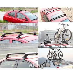 47 Aluminiumkit Roof Top Porte-bagages Barre Transversale Porte-fenêtre Cadre Réglable