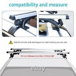 48'' Car Top Luggage Roof Rack Cross Bar Carrier Cadre De Fenêtre Réglable Avec Serrure