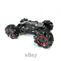 4 Roues Motrices 97mm Mecanum Roue Voiture Robot En Fibre De Verre Kit Châssis Pour Arduino Raspberry Pi