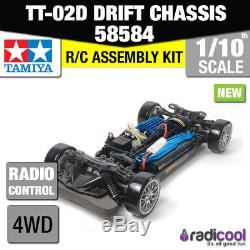58584 Tamiya Tt-02d 4wd Drift Spec Chassis Kit De Voiture Radio 1 / 10ème