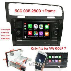 6.5 Car Stereo Rcd330 + Cadre Carplay Mirrorlink Bt Usb Aux Pour Mqb Vw Golf Mk7