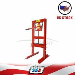 6 Ton Shop Press Hydraulic Jack Bench Top Mount H-frame Plates Équipement Manuel