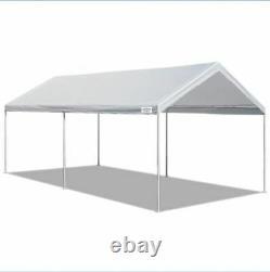 Abri À Baldaquin Carport Car Port Tent 10 X 20 Ft Steel Heavy Duty Frame