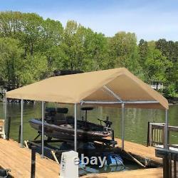 Abri De Tente De Voiture De Carport 10x20 Canopée Lourde De Garage De Garage De Jardin De Cadre En Acier