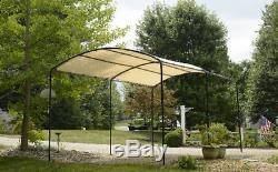 Abri De Voiture 9'x16' Kit Canopy Véhicules Lourds Cadre En Acier Tente Carport Abat-jour