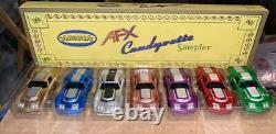 Afx H. O. Slot Car Candy Corvettes Par Bob Berers Avec Auto World Xtraction Chassis
