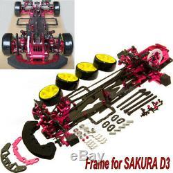 Alliage & Carbon Rc 1/10 4wd Drift Racing Cadre Voiture Body Kit Pour Sakura D3 Cs 3r
