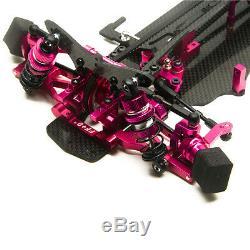 Alliage & Carbon Rc 1/10 Drift Racing Cadre Voiture Body Kit 110 Pour Sakur Xis Lecteur