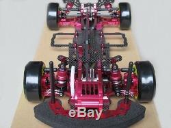 Alliage & Carbon Sakura D3 Cs 1/10 4wd Drift Racing Cadre Kit De Voiture Avant D'une Façon Rc