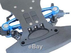 Alliage & Carbon Tt01 Tt01e Arbre D'entraînement 1/10 4 Roues Motrices Voiture De Course Rc Châssis Kit Frame