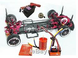 Alliage & Carbone 1/10 Sakura D3 Drift Racing Cadre & Skyrc Leopard Esc Motor Combo Rc