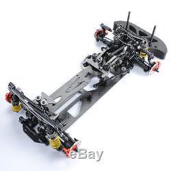 Alliage Et Carbone 4wd Châssis De Châssis De Modèle De Course De Course G4 Pour Voiture Rc 1/10 Électrique