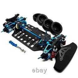 Alloy & Carbon Shaft Drive 1/10 Rc 4wd Touring Car Châssis Frame Kit Tt01 Tt01e