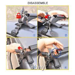Aluminium 43.3universal Voiture Top Bagages Support À Bagages Cross Bar Fenêtre Porte-cadre