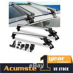 Aluminium 48 Pouces Voiture Haut Bagages Sur Le Toit Cross Bar Rack Cargo Carrier Cadre De Fenêtre