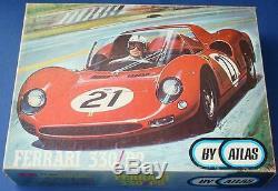 Atlas 124 Échelle Sib Slot Car Racing Red Ferrari 330p2 Kit Étanche Body & Châssis