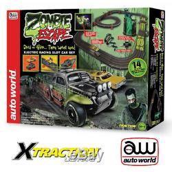 Auto World 14 'zombie Escape Châssis Ultra-g X-traction Ho 1/64 Slot Race Car Se