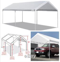 Auvent Auvent 10' X 20' Heavy Duty Portable Garage Tente Abri De Voiture Cadre En Acier