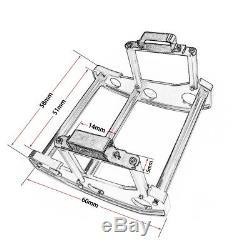 Avant De Voiture Couvercle Pare-chocs De Renforcement D'impact Bar Cadre De Protection En Aluminium Noir
