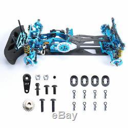 Bleu 110 4wd Drift Alliage En Fiber De Carbone Rc Voiture De Course Drive Kit Trame Cadre Rc Voiture