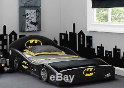 Cadre De Lit D'enfant Meubles De Chambre À Coucher Pour Enfants Batmobile Car W Attached Guardians